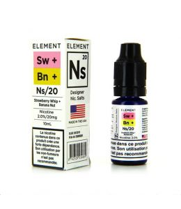 Strawberry Whip + Banana Nut Nic Salts by Element