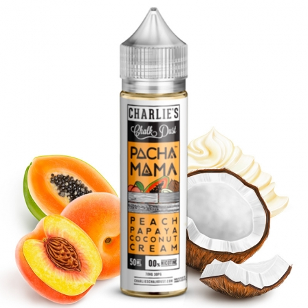 E liquide Peach Papaya Coconut Cream Pacha Mama 50ml