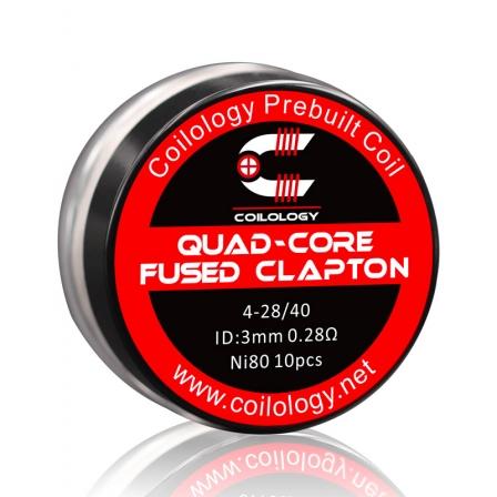 Résistance Pack 10 Quad-Core Fused Clapton Coilology