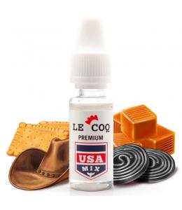 E liquide USA Mix Le Coq Qui Vape   Tabac blond Biscuit Caramel Réglisse
