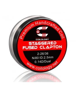 Pack 2 Handcrafted Staggered Fused Clapton Coilology