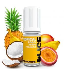 E liquide Tropical D'LICE | Mangue Ananas Fruits de la passion Banane Noix de coco