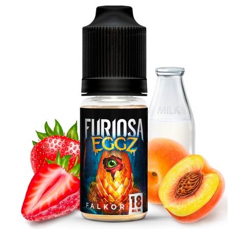 E liquide Falkor Furiosa EGGZ | Pêche jaune Fraise Lait