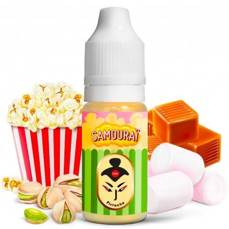 E liquide Samouraï Pistache Le Coq Qui Vape   Pop Corn Caramel Marshmallows Pistache