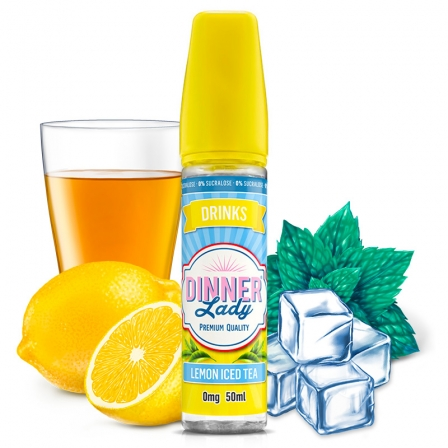E liquide Lemon Iced Tea 0% Sucralose Dinner Lady 50ml