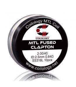 Résistance Pack 10 MTL Fused Clapton SS316L Coilology