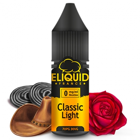 E liquide Classic Light eLiquid France | Tabac blond Réglisse Miel Eau de rose