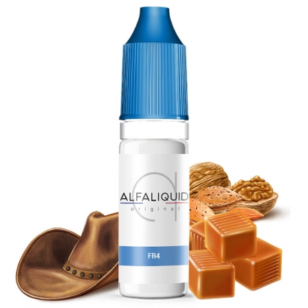 E liquide FR4 Alfaliquid | Tabac blond Fruits à coques Caramel