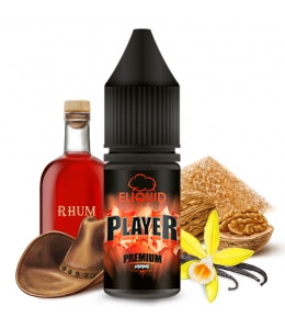 E liquide Le Player eLiquid France | Tabac blond Rhum Vanille Noix de Macadamia Sucre brun