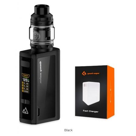 Kit Obelisk 120 + Fast Chargeur Geekvape   Cigarette electronique Obelisk 120 + Fast Chargeur