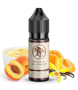 E liquide Douceur du Verger Flavor Hit | Custard Vanille Pêche Abricot