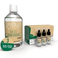 Pack 200 ml Base e liquide DIY Végétale 50/50 Revolute
